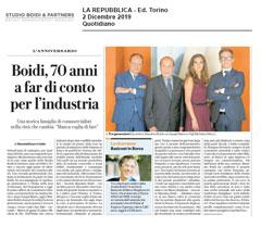 La Repubblica – Studio Boidi's Anniversary